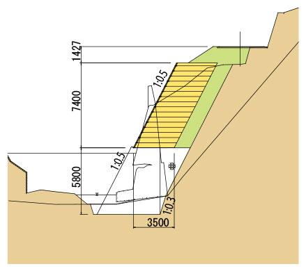 枠型の施工実績2 断面図