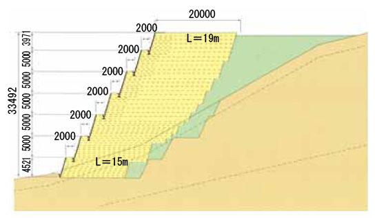 枠型の施工実績4 断面図