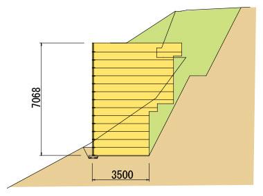 枠型の施工実績9 断面図