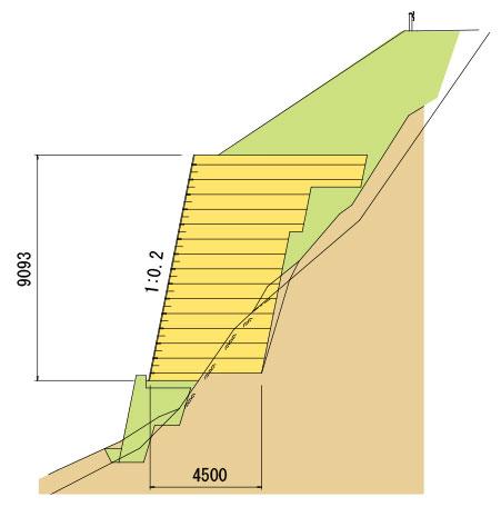 網型の施工実績3 図