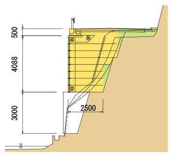 枠型の施工実績10 断面図