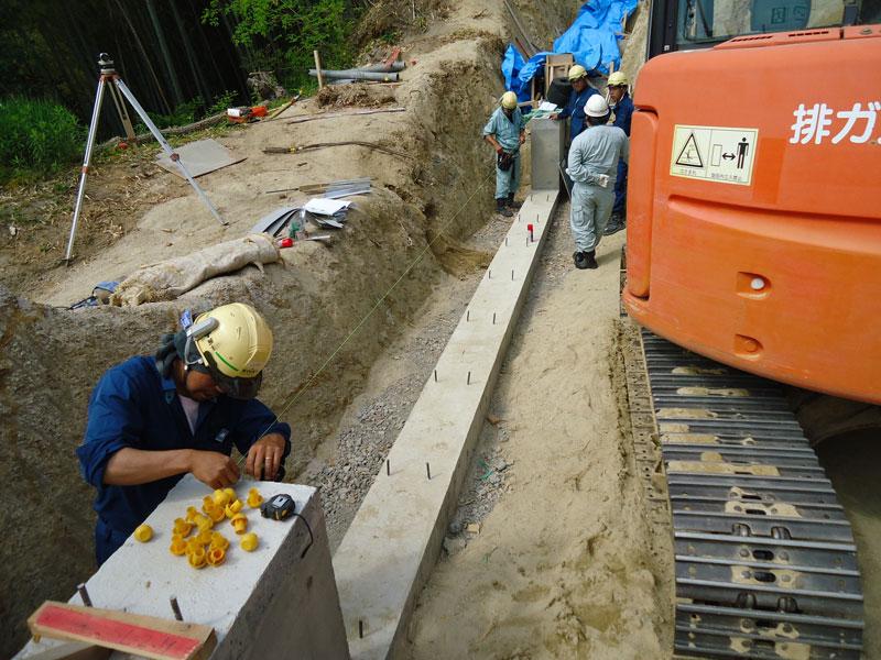 コンクリートパネル仕様の施工手順1 基礎工